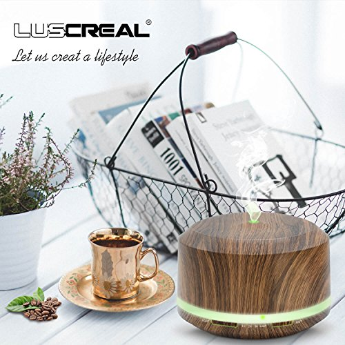 Gift 450mlWood for Set and Air Oil Grain Room Idea LUSCREAL Humidifiers Diffuser Essential Aromatherapy Large Diffusers P0wnOkN8ZX