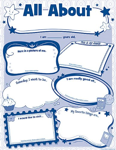 Amazon.com: Teacher Created Resources 5222 All About Me Poster Pack ...