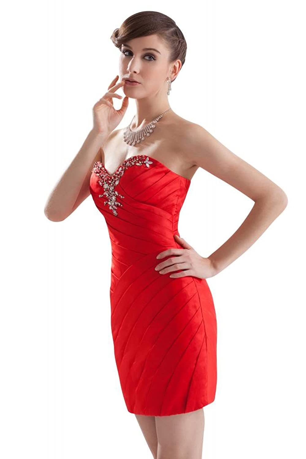 GEORGE BRIDE Hot Mini Beaded Sweetheart Neckline Prom Dress