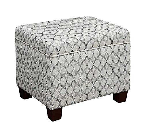 Convenience Concepts 161343FRB Designs4Comfort Madison Storage Ottoman, Ribbon Pattern Fabric,