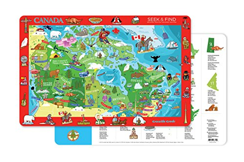 Crocodile Creek 2831-5 Canada 2-Sided Placemat, Red/Green/Blue
