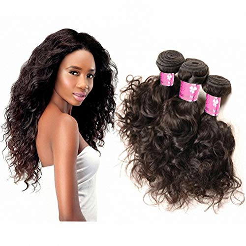 Brazilian Water Wave Human Hair 3 Bundles Wet And Wavy Human Hair Weave Virgin Remy Hair Extensions 8A Grade Ocean Wave Unprocessed Natural Black Color 16 18 20 Inch 100g/Pc from Refeeny