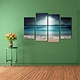BFY Frameless Huge Wall Art Oil Painting On Canvas Sea Wave Home Decor