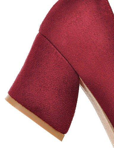 cn36 Heels Casual Schuhe blau black Karriere spitz Fleece us6 Damen Toe othersblack Herbst uk4 Chunky Office eu36 Heels GGX Ferse amp; Sommer 8nqw5B441