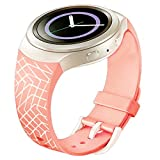 Hotsale! Luxury TPU Silicone Watch Band For Samsung Galaxy Gear S2 SM-R720 (pink2)