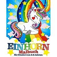 Einhorn-Malbuch für Kinder von 4-8 Jahren