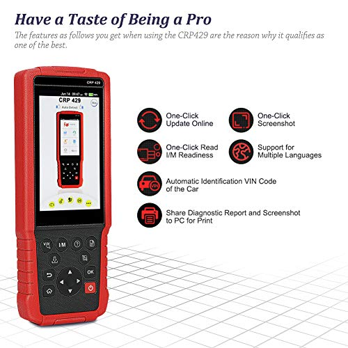 LAUNCH CRP429 OBD2 Scanner Diagnostic Scan Tool SRS ABS Full System Code Reader Reset Functions of Oil Reset, EPB, BMS, SAS, DPF, ABS Bleeding, Injector Coding and IMMO (Advanced version of CRP429C) by LAUNCH (Image #5)