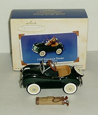 Hallmark 1949 Gillham Sport Christmas Keepsake Ornament Kiddie Car Classics with Golf Bag
