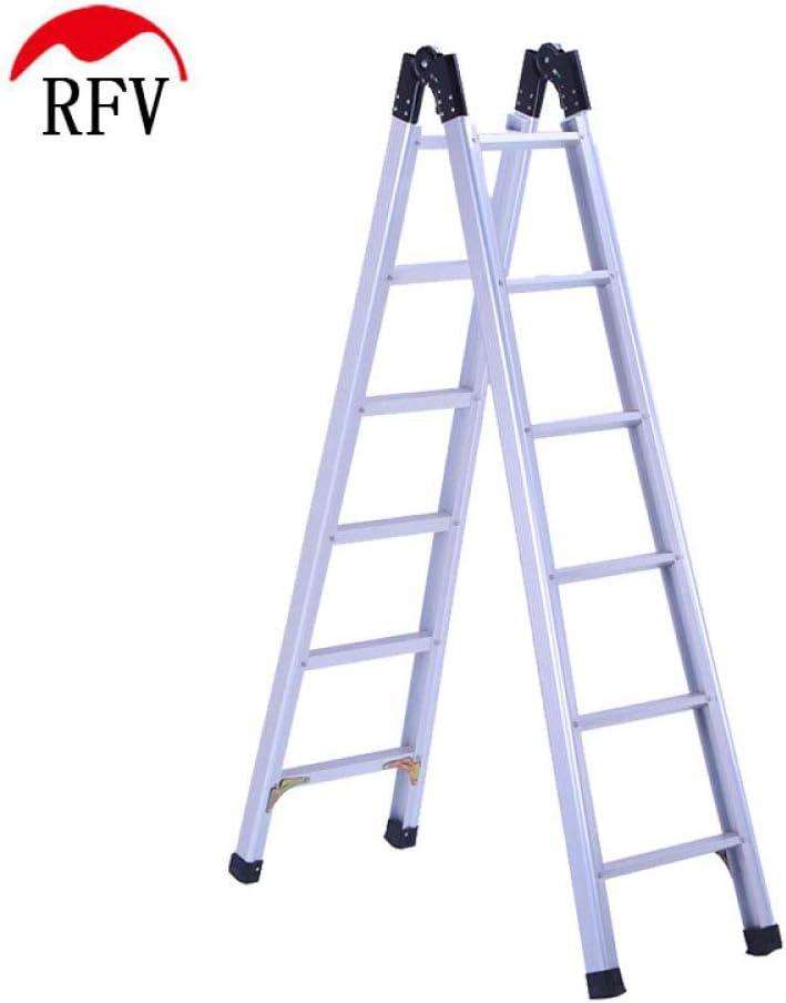 RFV Escalera de aleación de Aluminio, Escalera Plegable de Uso doméstico, Escalera Articular telescópica Multifuncional portátil, Escalera mecánica Antideslizante de Doble Lado Null: Amazon.es: Deportes y aire libre