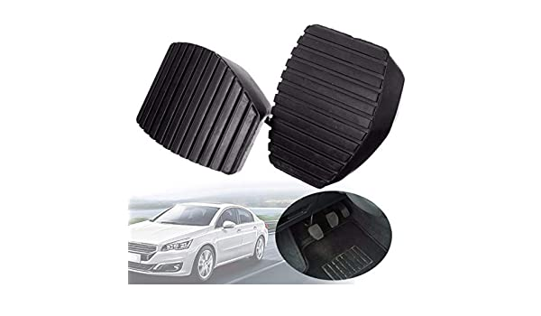 Amazon.com: Sammiler - 1Pair Auto Car Rubber Brake Clutch Black S-proof Pedal Cover Pad Covers For Peugeot For Citroen 1007 207 208 301 C3 C4 C5 C6: Home ...