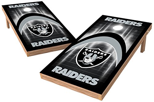 PROLINE NFL Oakland Raiders 2'x4' Cornhole Board Set - Arch Design ()