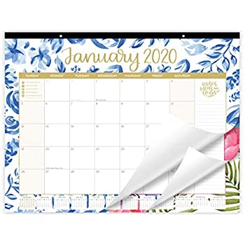 Amazon.com : Desk Calendar 2019-2020: Large Monthly Pages ...