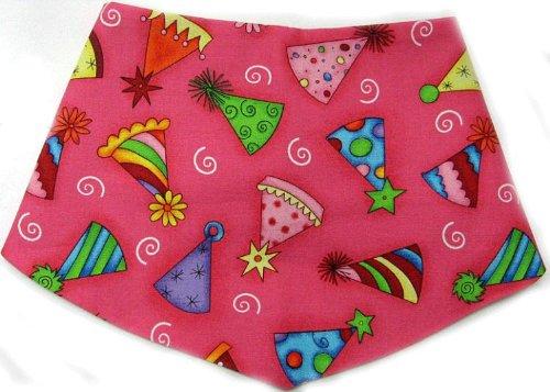 Medium Reversible Happy Birthday Girl Dog Bandanna, My Pet Supplies