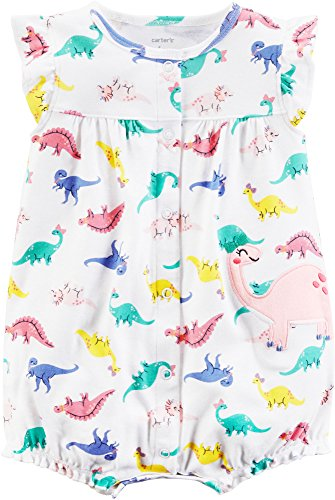Carter's Baby Girls' Dino Print Snap up Romper 3 Months