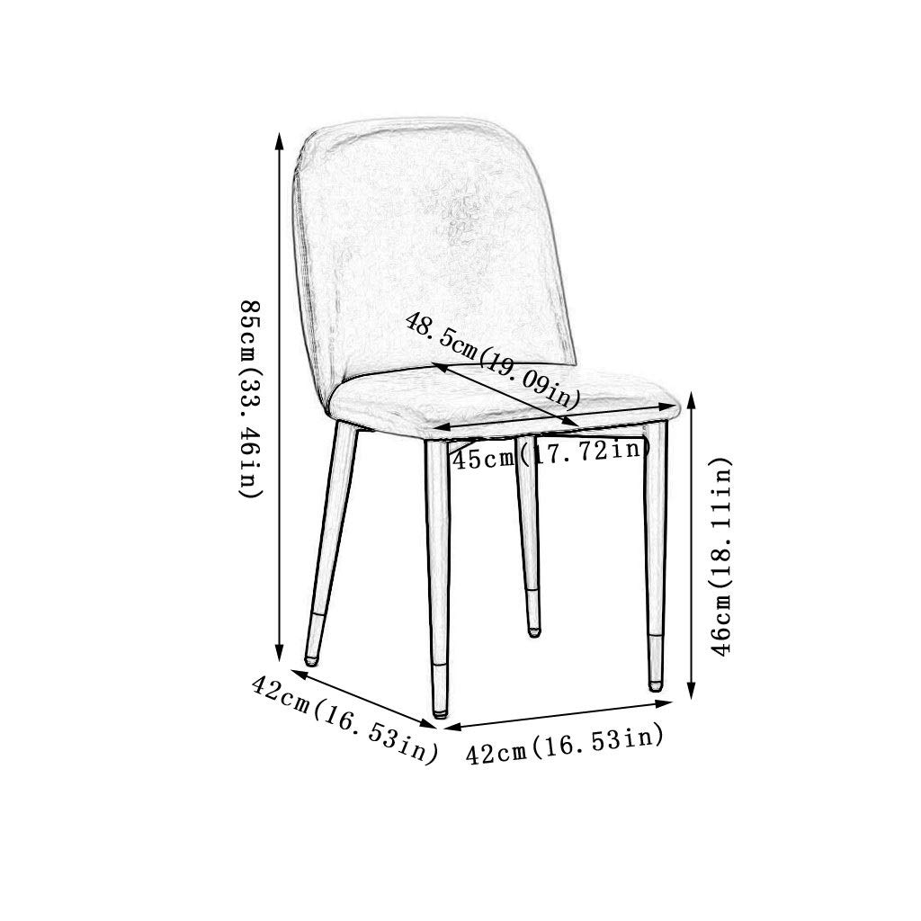 Kitchen stolar, PU Office Leisure Desk Milk Tea Shop Western Restaurant Cafe Study Counter Chair (Color : Pink) Black
