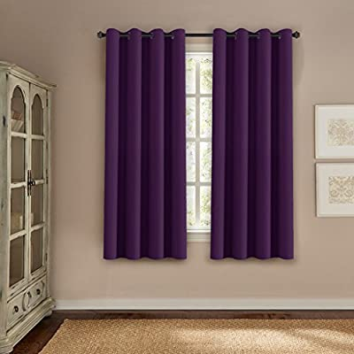 H.Versailtex Thermal Insulated Innovated High Density Microfiber Home Fashion Blackout Curtains Window Drapes,Grommet Top -Set of 1 Panel