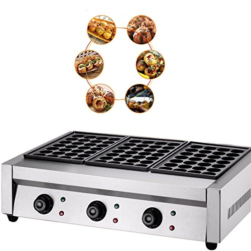 Commercial Takoyaki Machine Small Octopus Maker Fish Pellet Grill Machine 84pcs(Three-plate) 220v by TECHTONGDA (Image #3)