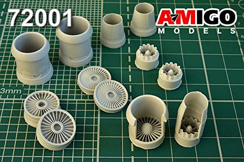 Advanced Modeling 1/72 Scale Resin D-30 Turbojet Engine for Tu-134A3/B3 Kits – Amigo 72001