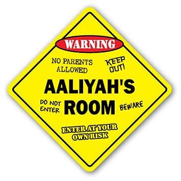 Amazon.com: [SignJoker] AALIYAH\'S ROOM SIGN kids bedroom decor door ...