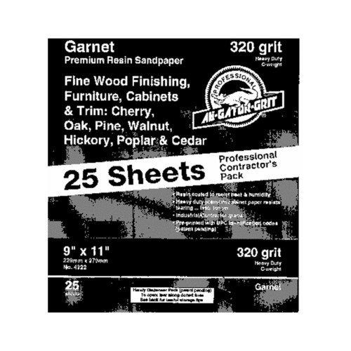 (Gator Grit Resin Garnet Sanding Sheets 150 Grit Fine Wood )