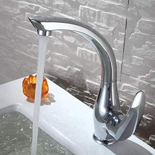 Honana 蛇口, 洗面化粧台のシンクの蛇口ステンレス鋼温水と冷水の浴室の洗面台のシンクタップ浴室の蛇口 キッチン蛇口 混合水栓