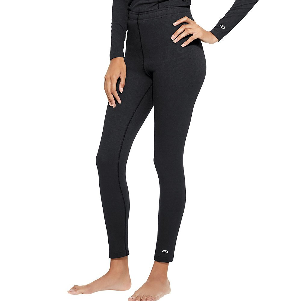 Duofold Women's Heavy Weight Double Layer Thermal Leggings, Black, Large by Duofold