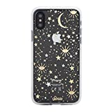 Sonix Cosmic Stars Case for iPhone X/XS [Military Drop Test Certified] Protective Gold Silver Star Clear Case for iPhone X, iPhone Xs
