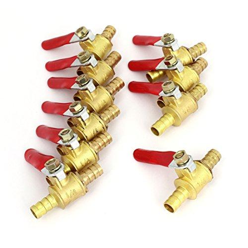 10PCS 8mm Dia Dual Hose Barb Pressure Valve Switch for Air Compressor