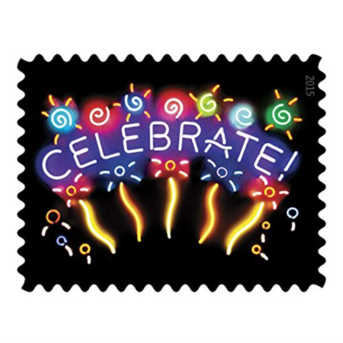 NOW AVAILABLE ! Neon Celebrate, Stamp sheet of 20 , Ofiice Products , School Supplies , Labels , Indexes & Souvenir , Stamps Supplies , Postage