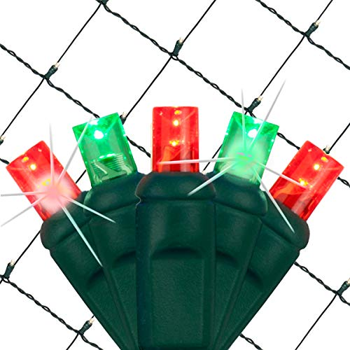 - SoftTwinkle Pulsing Net Twinkle Lights, Net Lights Outdoor Twinkling Christmas Lights, Green Wire (70 Lights, 4' x 6' Net, Red/Green)