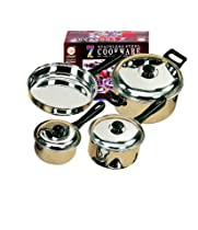 Stainless Steel 7-piece Pan Cookware Set