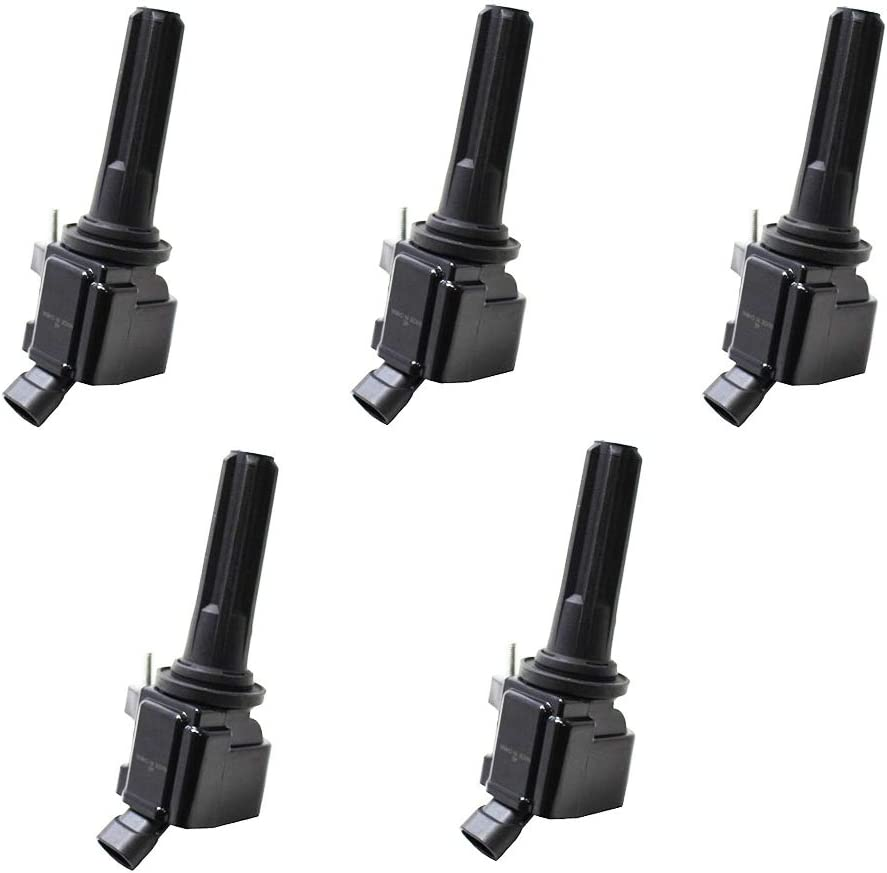ENA Pack of 5 Ignition Coils Compatible with 2007-2012 Chevrolet Chevy Colorado Canyon Hummer H3 H3T L5 3.7L 12496547 12612369