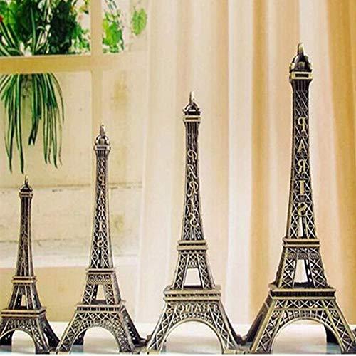 - 5-13cm Bronze Paris Eiffel Tower Metal Crafts Figurine Statue Model Home Decors Souvenir Model Kids Toys for Children Yichener