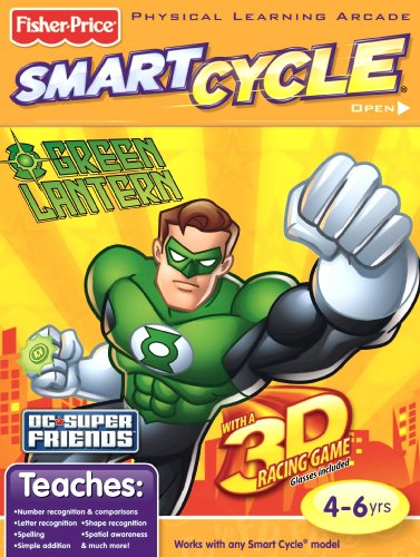Fisher Price SmartCycle 3D Software - Superfriends Green Lantern