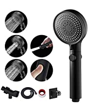 MIAOHUI RV Shower Head with Hose and on Off Switch, 3 Setting High Pressure Handheld Shower Head, Removable Shower Head with Hose, Adjustable Angle Bracket, Low-Reach Wand Holder