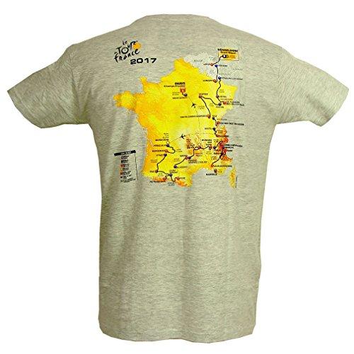 Le Tour de France - Collector T-Shirt Tour de France 'Kurs 2017' Official - Grau
