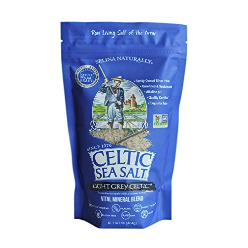 (Celtic Sea Salt Light Grey, (1) 16 Ounce Bag, Great for Cooking & Baking, Pickling or Grinding, Non-GMO, Gluten Free, Kosher)