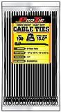 Pro Tie B15HDSM100 15-Inch Heavy Duty Screw Mount Cable Tie, UV Black Nylon, 100-Pack