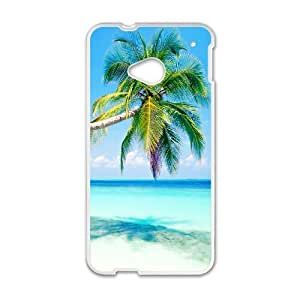 Generic Case Tropical Paradise Beach And Palm Tree For HTC One M7 W3Q8917703