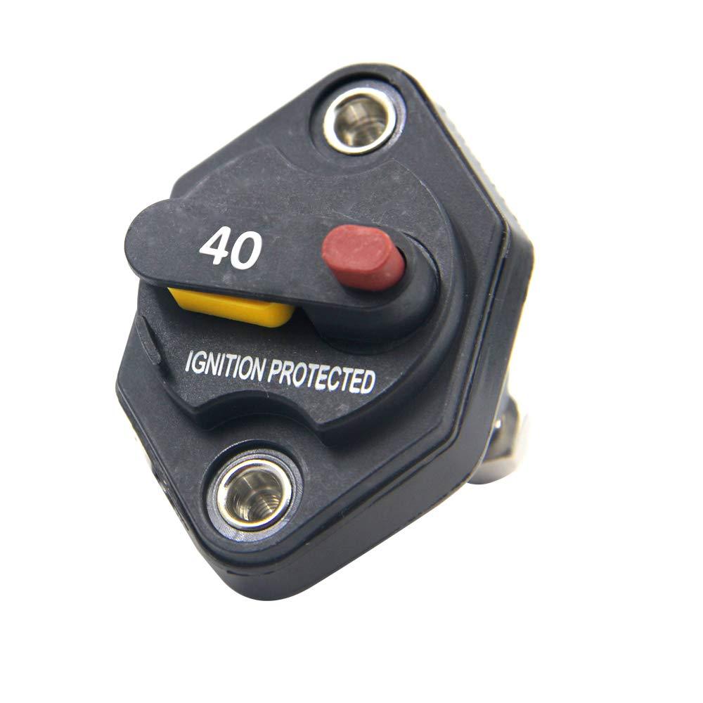 Rkurck 12/V-32/V DC 10/A Disjoncteur fusible Inverter Porte fusible avec bouton de r/éinitialisation manuelle pour auto Camion Remorque RV Marine /étanche
