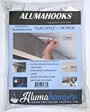 (24 Pack) 3″ Flat Alumahooks Made of Plastic for Light Weight Hanging. Great Chime, Bird feeders, Decorations, Parties, All Occasions.