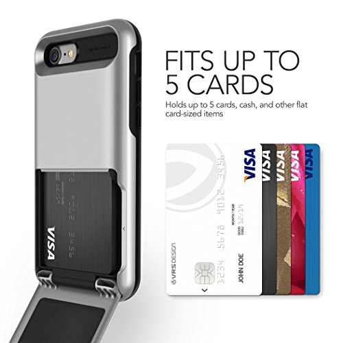 Coque iPhone 7, VRS Design [Damda Folder][Argent] - [Clapet à rabat semi-automatique][Coque Portefeuille][Anti Chocs Case] Pour Apple iPhone 4.7