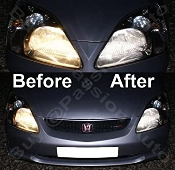 2x Car H1 68 SMD LED Xenon White Fog Beam DRIVING Head Light Lamp Bulb 12V
