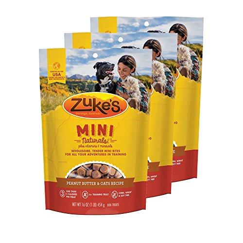(Zuke's Mini Naturals Dog Treats Peanut Butter and Oats 16 oz 3)