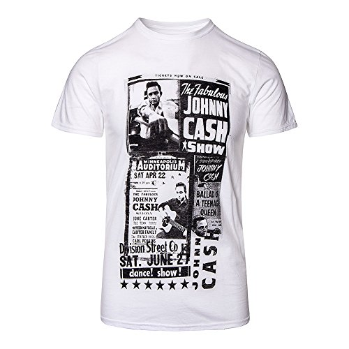 Johnny Cash T Shirt The Fabulous Johnny Cash Show Official Mens White