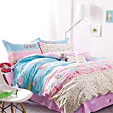 4 Pieces Bedding Sets Duvet Cover, Flat Sheet, Shams Set ,Queen, Floral (Style5)