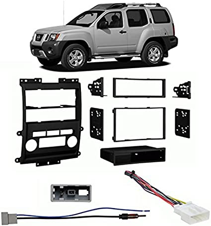METRA Ltd Black Metra 99-7428B Double DIN//ISO DIN Installation Dash Kit for 2009 Nissan Frontier LE//SE