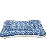 Trycooling Soft Warm Coral Velvet Pet Bed House Mat Pad for Small Medium Large Pet Dog Cat Kennel Star Thicker...