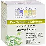 Aura Cacia Purifying Aromatherapy Shower Tablets Eucalyptus - 3 Tablets - Offer true aromatherapy benefits via organic essential oils
