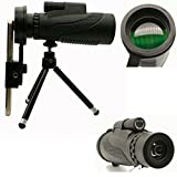 High Power Magnification Monocular Scope Telescope With Phone Holder and Tripod -Clear, Bright . For Bird Watching - Wildlife - Hiking -Surveillance - Camping - Waterproof, ShockProof -Best Quality.